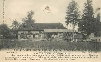 "CPA FRANCE 38 ""Exploitation de Bois de Saint Albin de Vaulserre"""