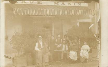 "CARTE PHOTO FRANCE 38 ""Saint Marcellin, café Manin"""