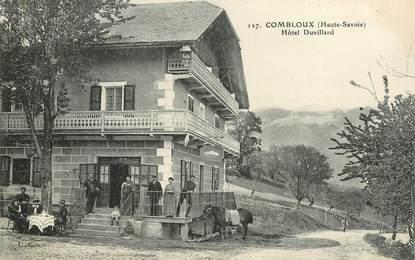 "CPA FRANCE 74 ""Combloux, pension Duvillard"""