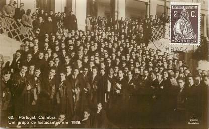 """CPA PORTUGAL """"Coimbra, groupe d'étudiants 1928"""""""