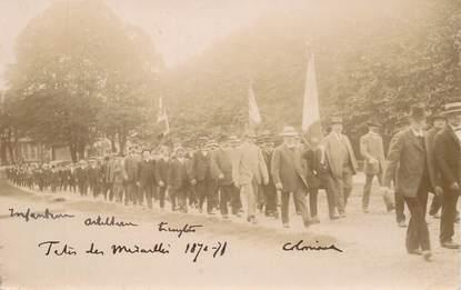 """CARTE PHOTO """"Les vétérans de la guerre de 1870"""""""