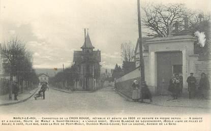 """CPA FRANCE 78 """"Marly le Roi, Carrefour de la Croix Rouge"""""""