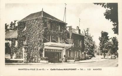 "CPA FRANCE 78 ""Mantes, Café Tabac Maupomet"""