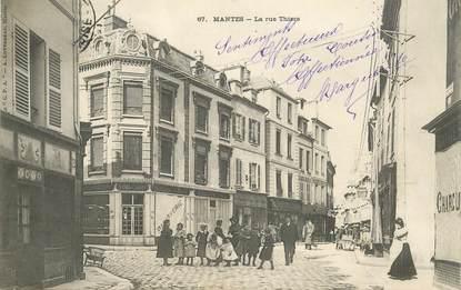 "CPA FRANCE 78 ""Mantes, la Rue Thiers"""