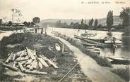 """78 Yveline CPA FRANCE 78 """"Mantes, le Port"""" / PENICHE / BATELLERIE"""