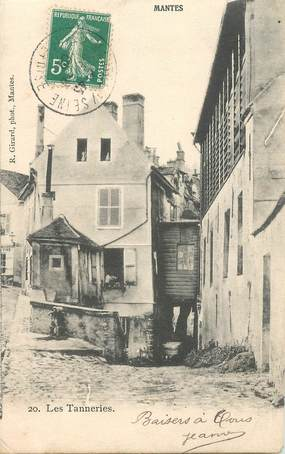 """CPA FRANCE 78 """"Mantes, les Tanneries"""""""