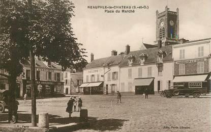 """CPA FRANCE 78 """"Neauphle le Chateau, la Place du Marché"""""""
