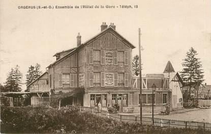 "CPA FRANCE 78  ""Orgerus, Hotel de la Gare"""