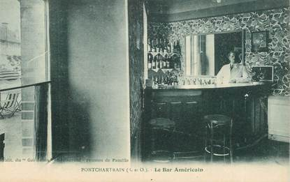 "CPA FRANCE 78   ""Pontchartrain, le Bar Américain"""