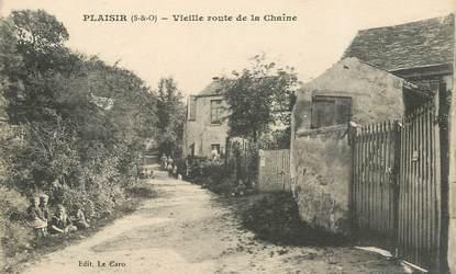 """CPA FRANCE 78   """"Plaisir, vieille route de la Chaîne"""""""