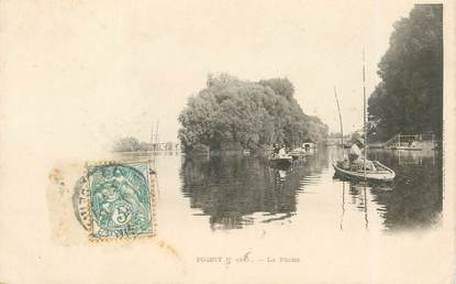 "CPA FRANCE 78   ""Poissy, la pêche"""
