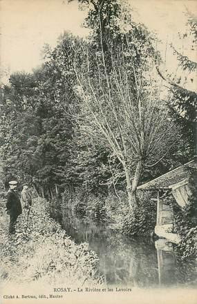 """CPA FRANCE 78   """"Rosay, la rivière et les Lavoirs"""""""