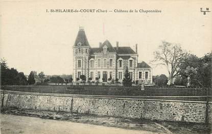 """CPA FRANCE 18 """"Saint Hilaire de Court, Château de la Chaponnière"""""""