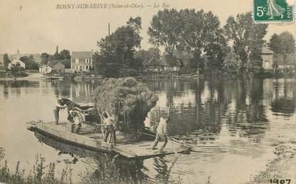 """CPA FRANCE 78   """"Rosny sur Seine, le Bac"""""""