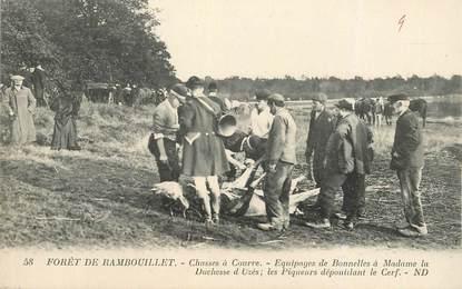 """CPA FRANCE   78 """"La Forêt de Rambouillet""""  /   CHASSE A COURRE"""