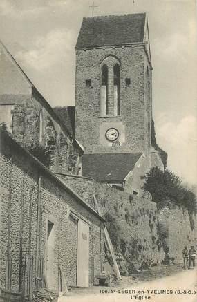"""CPA FRANCE   78  """"Saint Léger en Yvelines, l'Eglise"""""""
