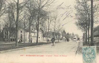 "CPA FRANCE   78   ""Saint Germain en Laye, la Route de Poissy"""