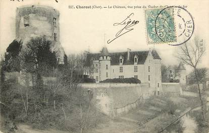 """CPA FRANCE 18 """"Charost, le Château"""""""