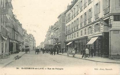 Cpa france 78 saint germain en laye rue de pologne 78 for Agrandissement maison houilles