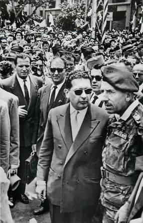 """CPSM ALGERIE """"Alger, Massu et Soustelle lors du départ de ce dernier"""""""