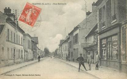 "CPA FRANCE   78  ""Trappes, rue Nationale"""