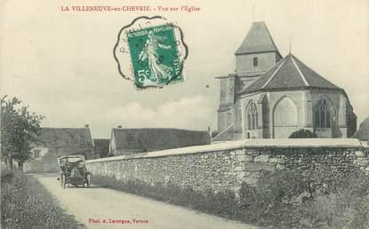 """CPA FRANCE   78  """"La Villeneuve en chevrie,  l'Eglise"""""""