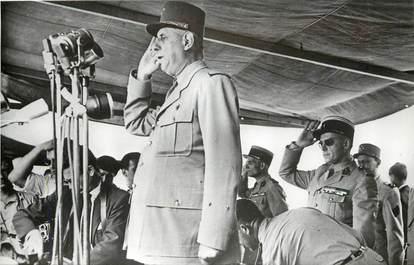 """CPSM ALGERIE """"Alger, les évenements de mai 1958, le Général de Gaulle"""""""