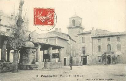 """CPA FRANCE 26 """"Pierrelatte, Place de l'Hotel de Ville"""""""