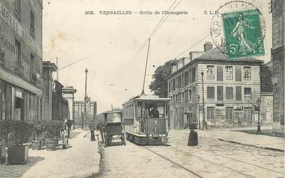"""CPA FRANCE   78  """"Versailles, Grille de l'Orangerie"""" / TRAMWAY"""