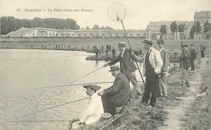 """CPA FRANCE   78  """"Versailles, la pièce d'eau des suisses"""" / PECHE"""