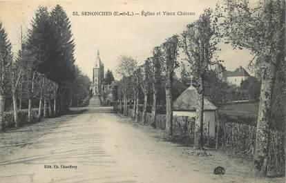 """CPA FRANCE 28 """"Senonches, Eglise et vieux chateau"""""""