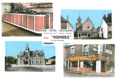 """CPSM FRANCE 28 """"Toury, Hotel Restaurant Chez Mimile"""""""