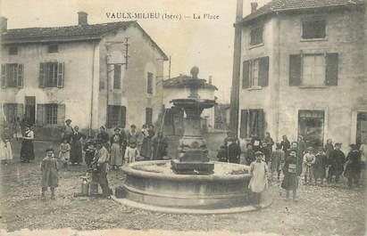 """CPA FRANCE 38 """"Vaulx Milieu, la place"""""""