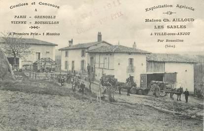 """CPA FRANCE 38 """"Ville sous Anjou, exploitation agricole Maison Ch. Ailloud"""""""