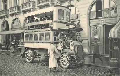 """CPA FRANCE 75 """"Paris, un autobus de la ligne Montmartre"""""""