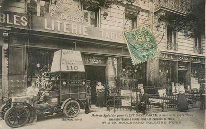 """CPA FRANCE 75011 """"Paris, Boulevard Voltaire, magasin de Literie"""""""