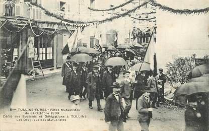 """CPA FRANCE 38 """"Tullins, 1909, Fêtes mutualistes"""""""