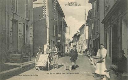 """CPA  FRANCE 38 """"Tullins, Grande rue"""""""