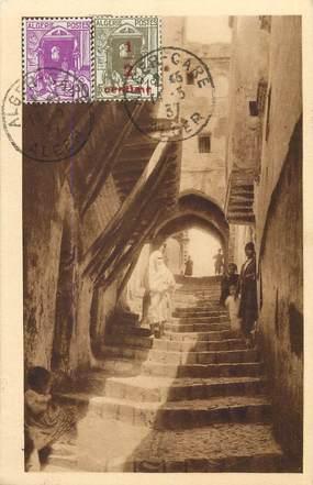 """CPA ALGERIE  """"Alger, une rue de la Kasbah"""""""