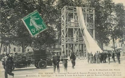 """CPA FRANCE 38 """"Vienne, Concours National de sapeurs pompiers"""""""