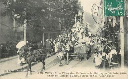 """CPA FRANCE 38 """"Vienne, la fête des enfants à la montagne, 1910"""""""