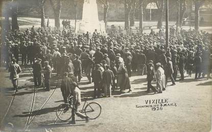 "CARTE PHOTO FRANCE 38 ""Vizille, 1920"""