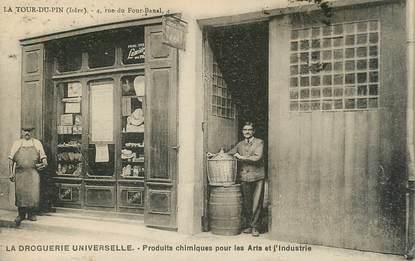 """CPA FRANCE 38  """"La Tour du Pin, la Droguerie universelle"""""""