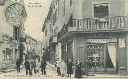 """CPA FRANCE 38 """"Vinay, la rue de la Halle"""""""