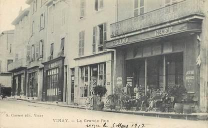 """CPA FRANCE 38 """"Vinay, la grande rue"""""""