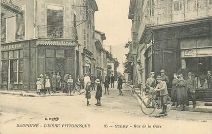 """CPA FRANCE 38 """"Vinay, rue de la gare"""""""