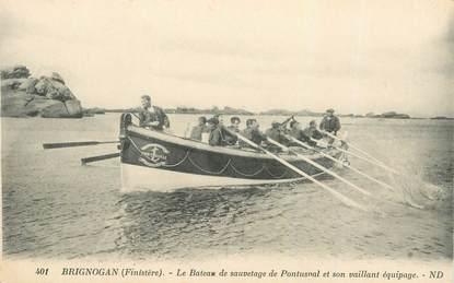 "CPA FRANCE 29 ""Brignogan, le bateau de sauvetage"""
