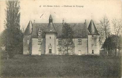 """CPA FRANCE 18 """"Gron, Château de Coupoy"""""""