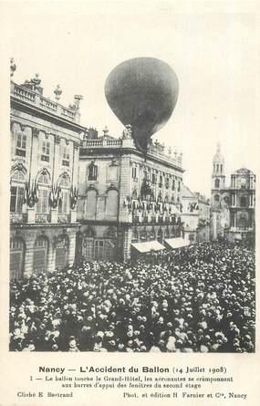 "CPA FRANCE 54 ""Nancy, L'accident du Ballon,  1908"""
