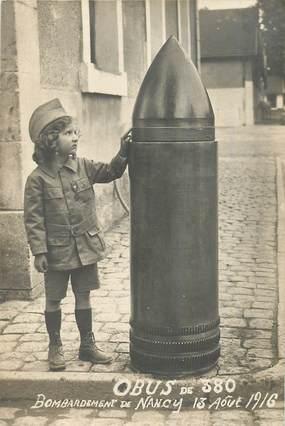 "CARTE PHOTO FRANCE 54 ""Nancy, obus, 1916"""
